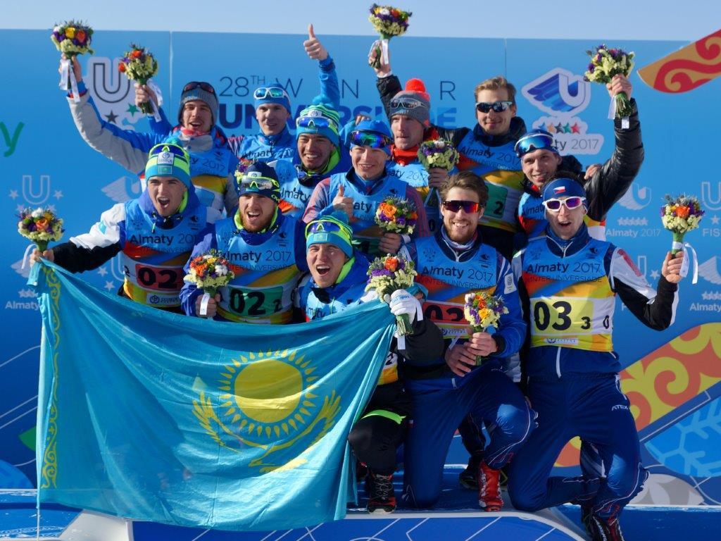 Štafeta běžců na lyžích, bronz