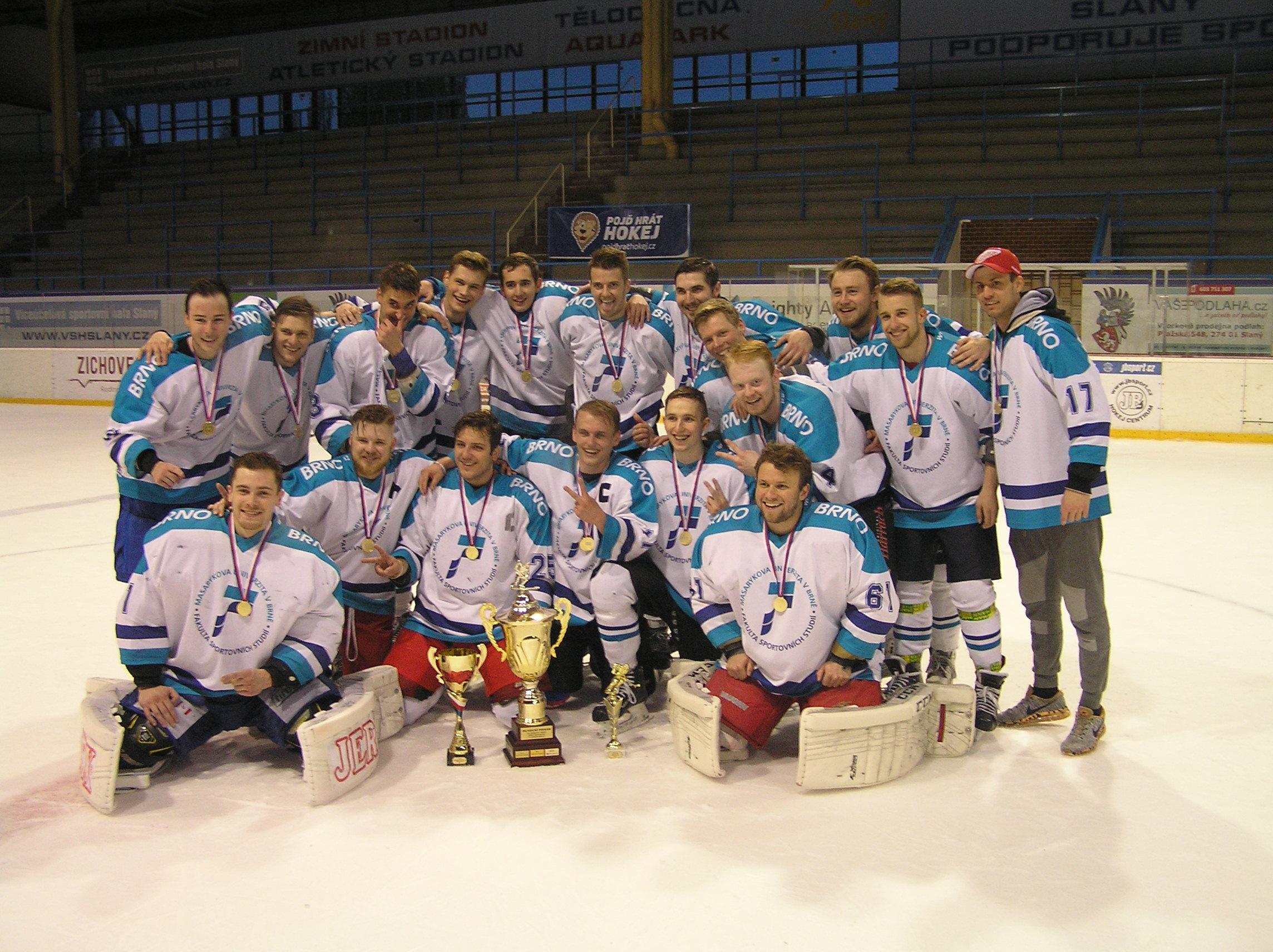 MU Brno - 1. místo na AM ČR v ledním hokeji