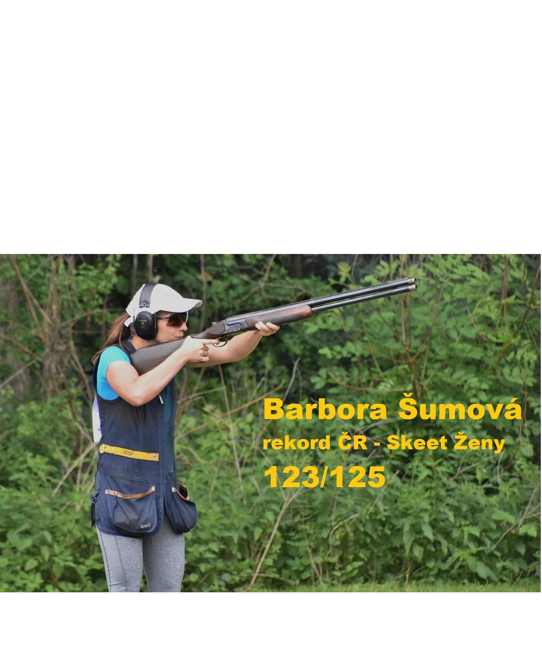 Barbora Šumová - rekord ve skeetu